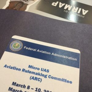 MicroUAS Aviation Rulemaking Committee