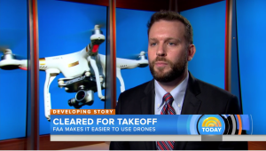 Drone law and policy expert Dr. Gregory McNeal discussing Part 107 regulations on The Today Show.